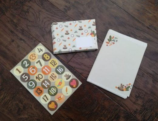 Keepsake letter writing set