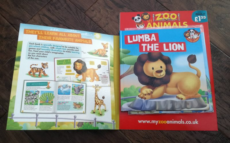 My Zoo Animals children's book and toy