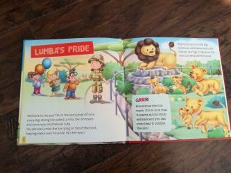 My Zoo Animals book about lions
