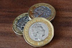Three pound coins