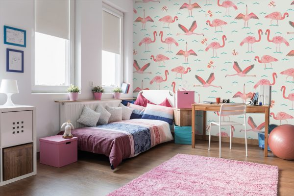 Wall Sauce Flamingos wallpaper