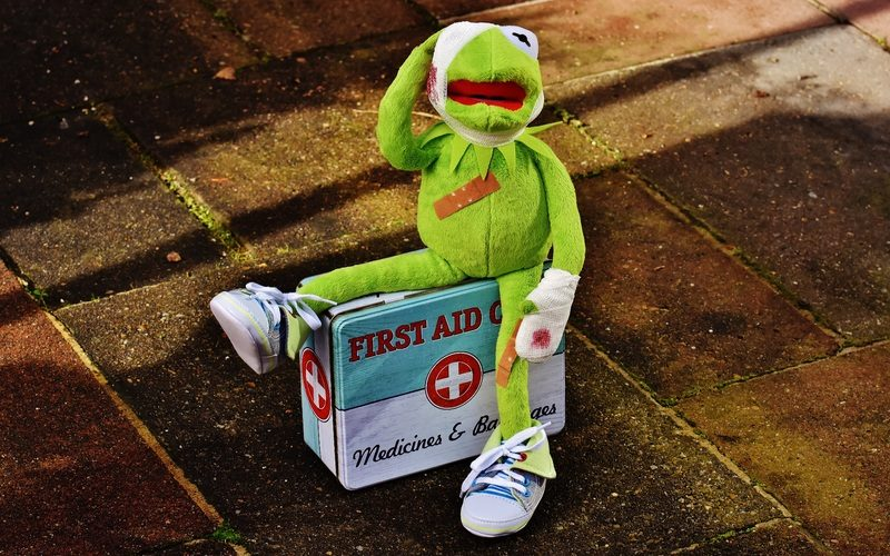Frog toy with injuries sitting on first aid box1216848 pxhere.com