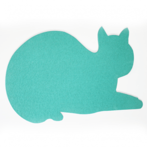 Green cat noticeboard