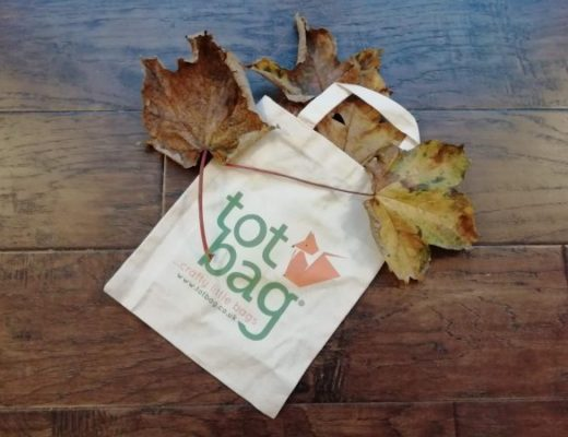 Cotton totbag with autumn leaves