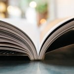 Close up image of an open book