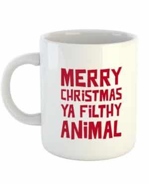 Christmas mug Merry Christmas Ya Filthy Animal