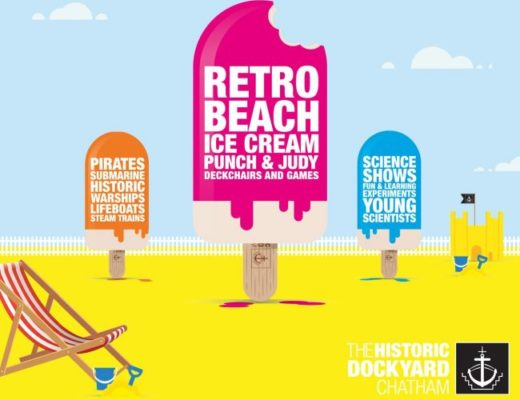 Ice lolly graphics featuring events at Chatham Dockyard