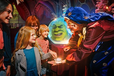 Characters from Shrek's Adventure