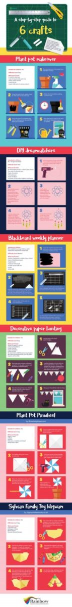 Infographic summer crafts