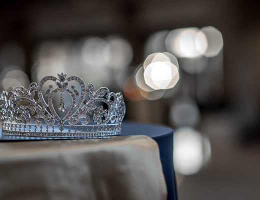 Silver jewelled princess crown