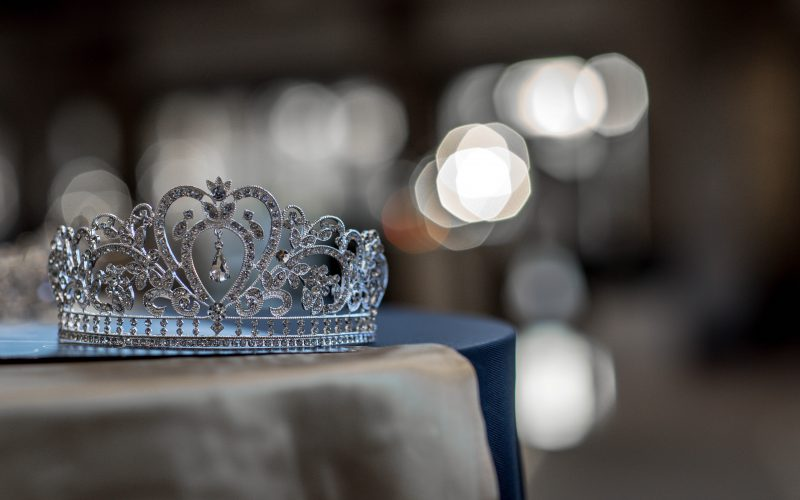 Silver jewelled princess crown