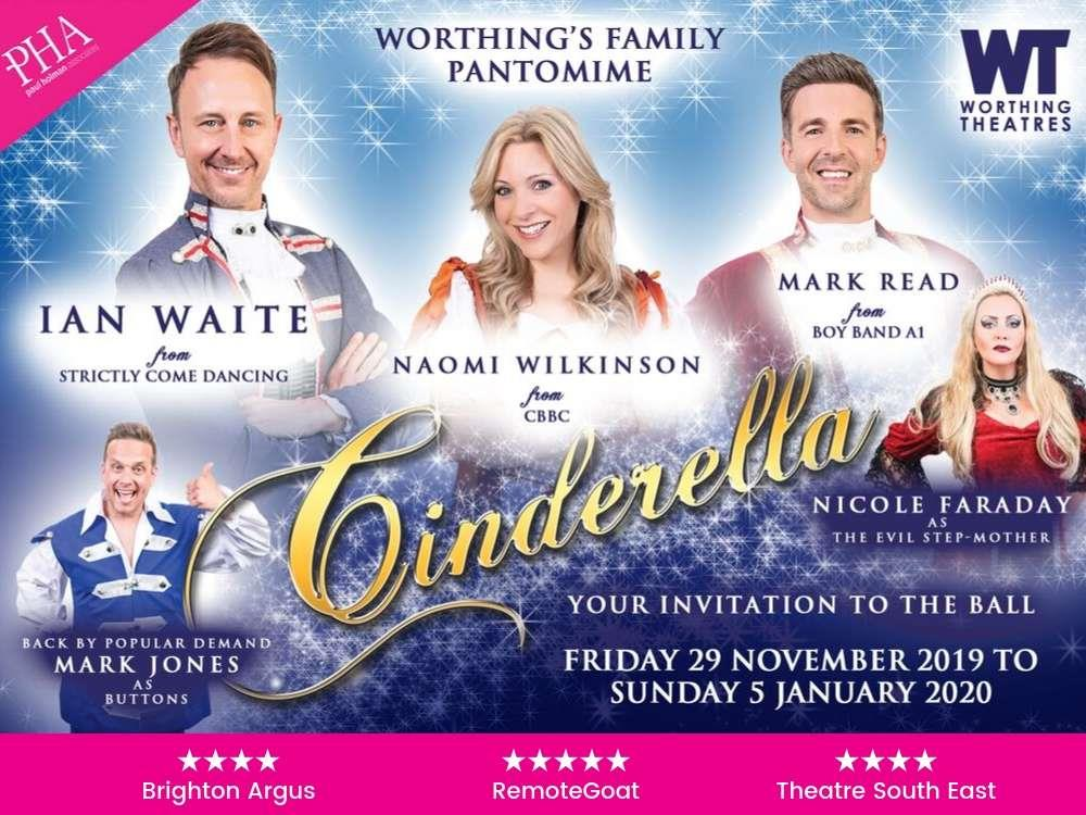 Cinderella pantomime at Worthing Theatres