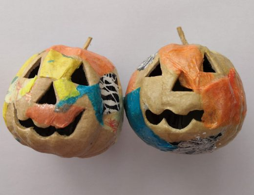 Decoupage pumpkin shapes