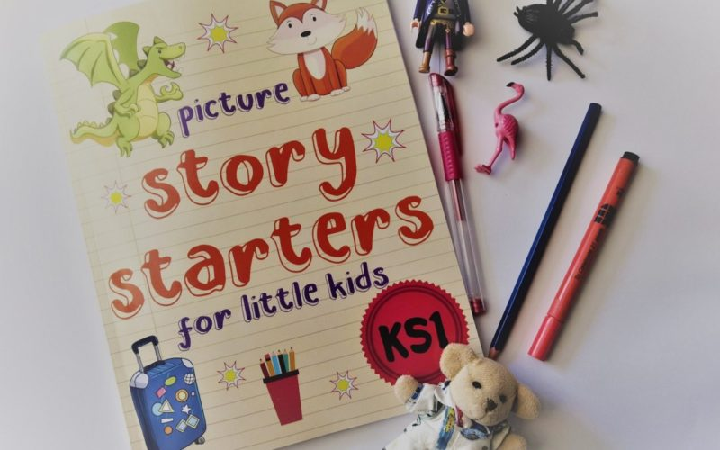 Picture Story Starters book and toys