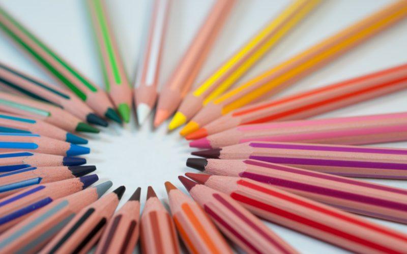 Assorted colour pencils